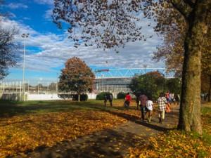 BayArena im beschaulichen Herbst 2013
